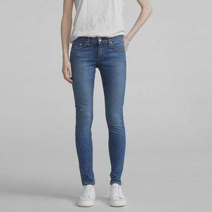 Rag & Bone Mid-Rise Skinny Jeans Medium Wash Sz 27